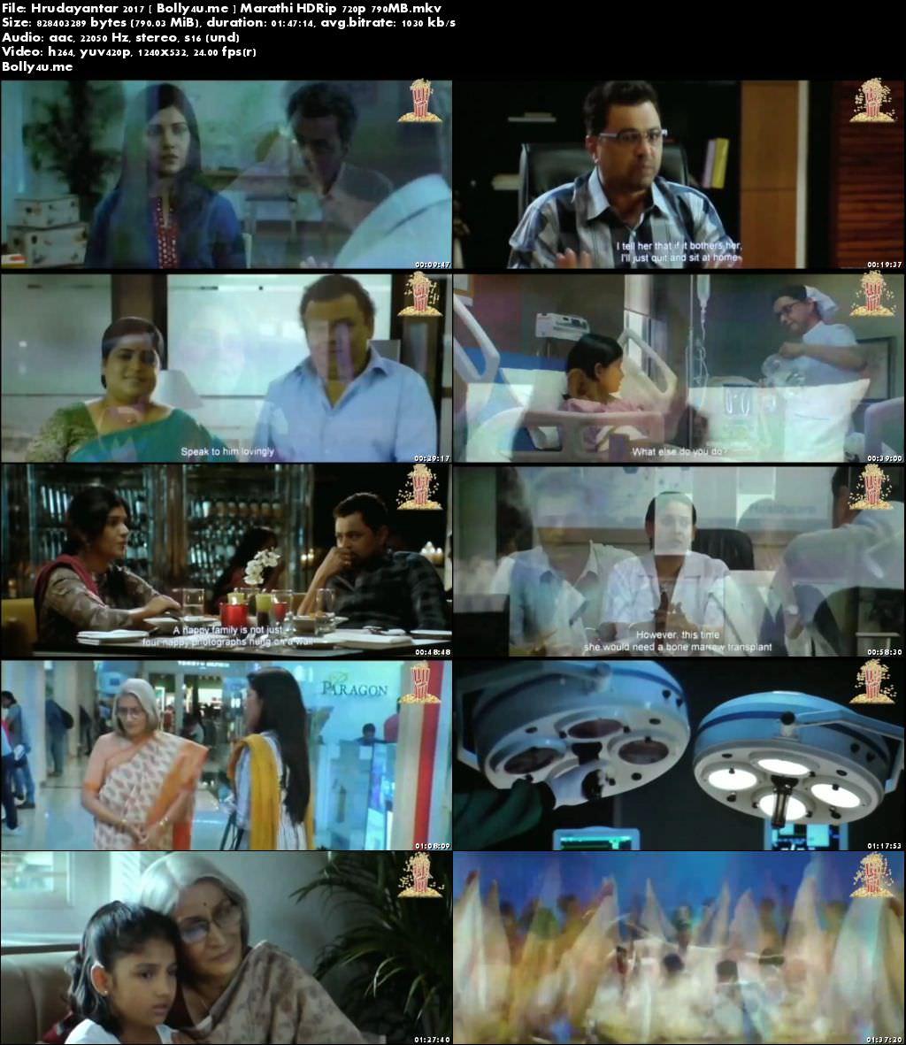 Hrudayantar 2017 HDRip 800MB Marathi 720p Download