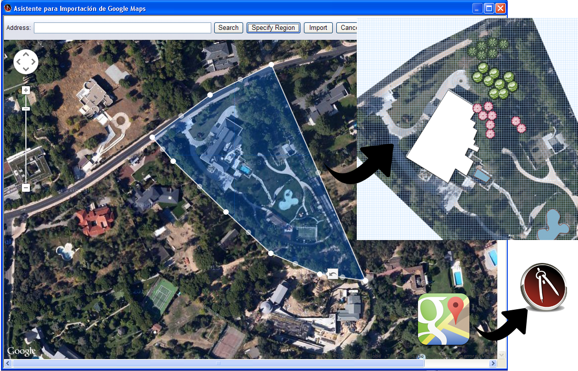 Base paisajismo landscape 3design el programa de dise o for Google planimetria