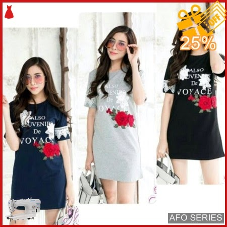 AFO508 Model Fashion Dress Clory Rose LD 88 Murah BMGShop