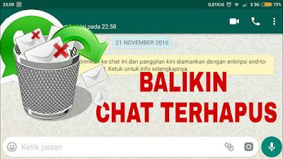 Cara Mengetahui Pesan Yang Telah dihapus di Whatsapp