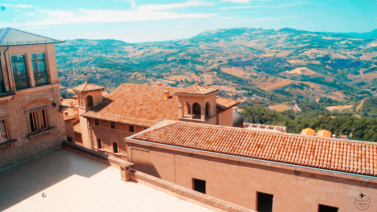San Marino widok na włochy
