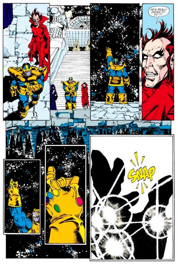 Thanos destroi metade o universo com um estalar de dedos