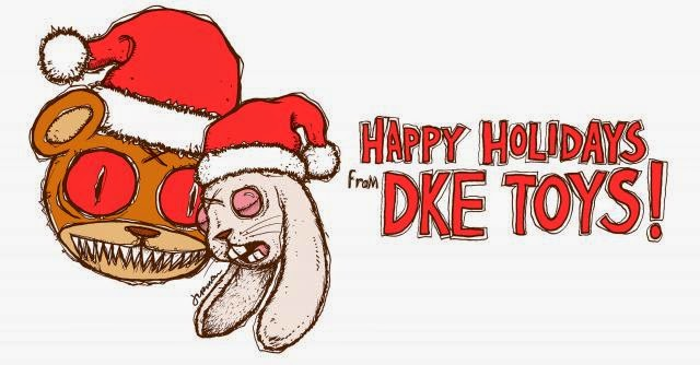 Happy Holidays from DKE Toys! Art by Jermaine Rogers
