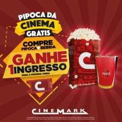 Promoção Cinemark Pipoca Dá Cinema Grátis Compre Ganhe Ingresso Outra Sessão