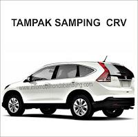 Fitru Honda CRV, HOnda CRV Bandung, Honda CRV Tampak Samping