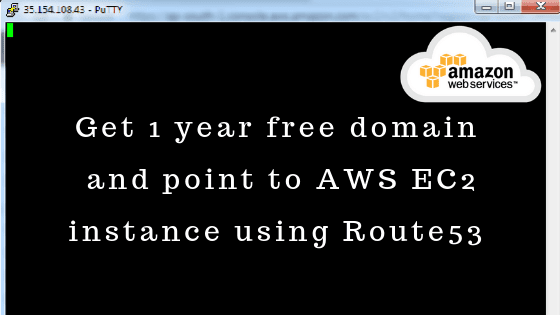 Get 1 year free domain and point to AWS EC2 instance using Route53