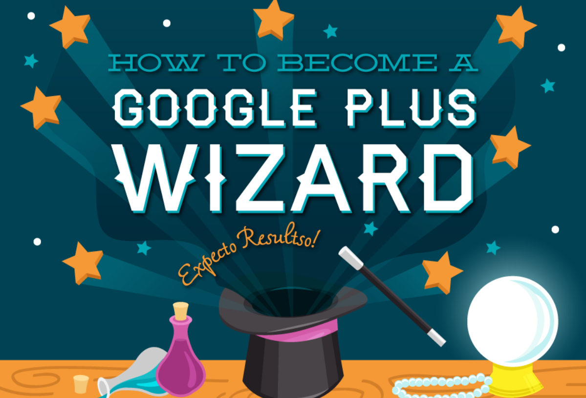 How to Use GooglePlus for Marketing and become a Google+ wizard - infographic