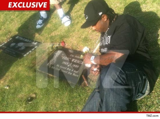 Easy E Funeral: Just Talk: Eazy E's Grave Littered
