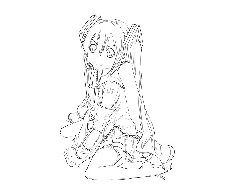 hatsune miku coloring pages - photo #39