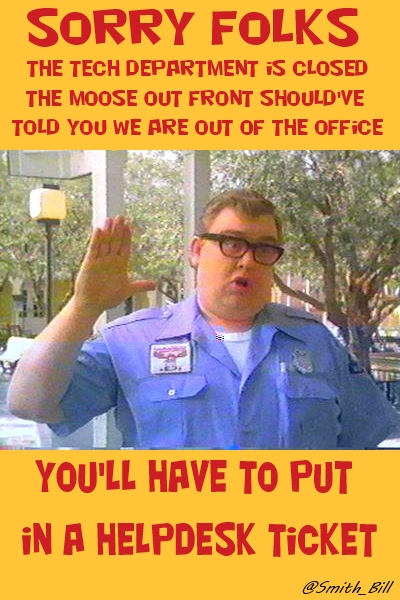 Out of Office Sign Wally World sorry Folks meme