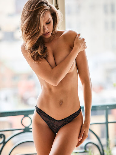 hot model Josephine Skriver sexy Victoria's Secret lingerie bra panties photo shoot