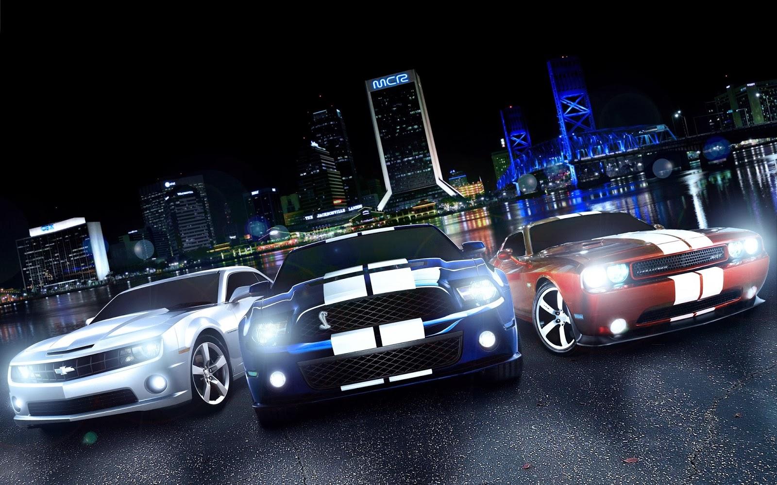 Camaro Mustang Cobra Y Dodge Challenger Srt Muscle Cars