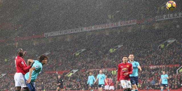 Hasil Pertandingan Liga Inggris : Manchester United Menang Tipis Lawan Bournmouth di Old Trafford