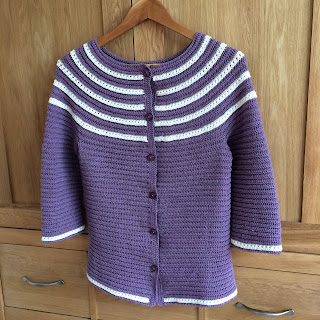 Finished Aberfoyle cardigan