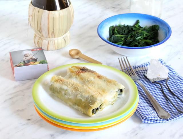 cannelloni spinaci e feta