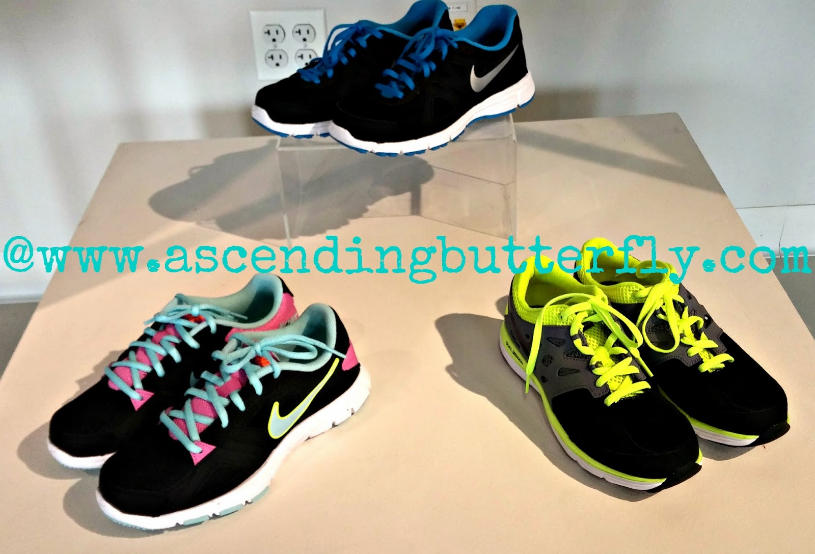Athletic Footwear on display at JCPenney 2014 Back to School Press Preview