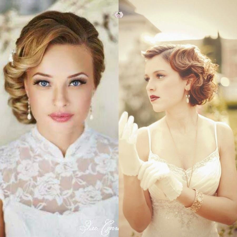 penteado vintage para noiva