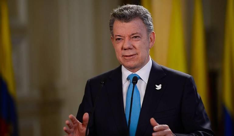 Hoy espero darle una noticia histórica y muy importante al país: Santos
