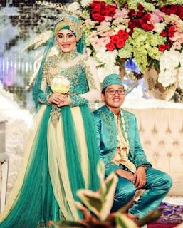 gaun pengantin barbie muslimah