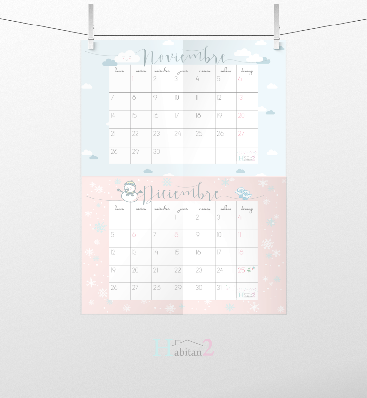 Descargable calendario 2016 by Habitan2