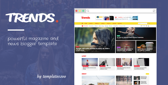 Trends - Magazine Responsive Blogger Template