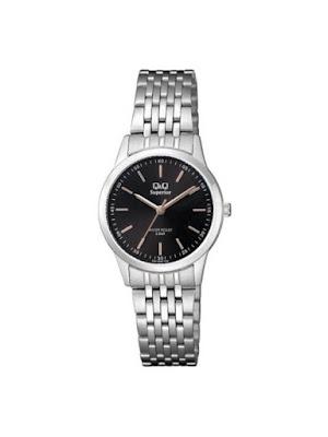 Ceas dama casual argintiu cu negru Q&Q Superior S281J222Y ieftin