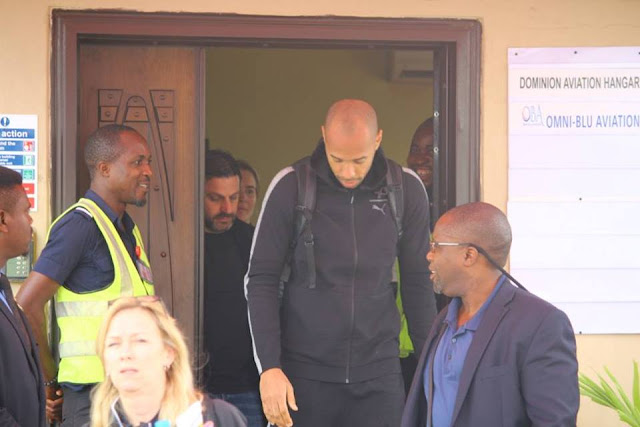Arsenal legend Thierry Henry just arrived Nigeria