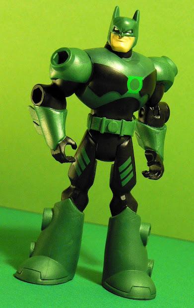 Super-dupertoybox Deluxe Sky Shot Batman In Green Lantern Armor And Solomon Grundy
