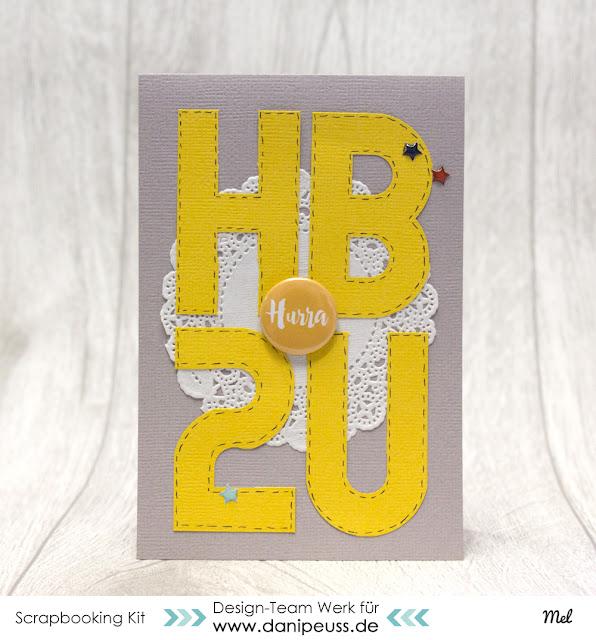 Geburtstagskarte mit Button