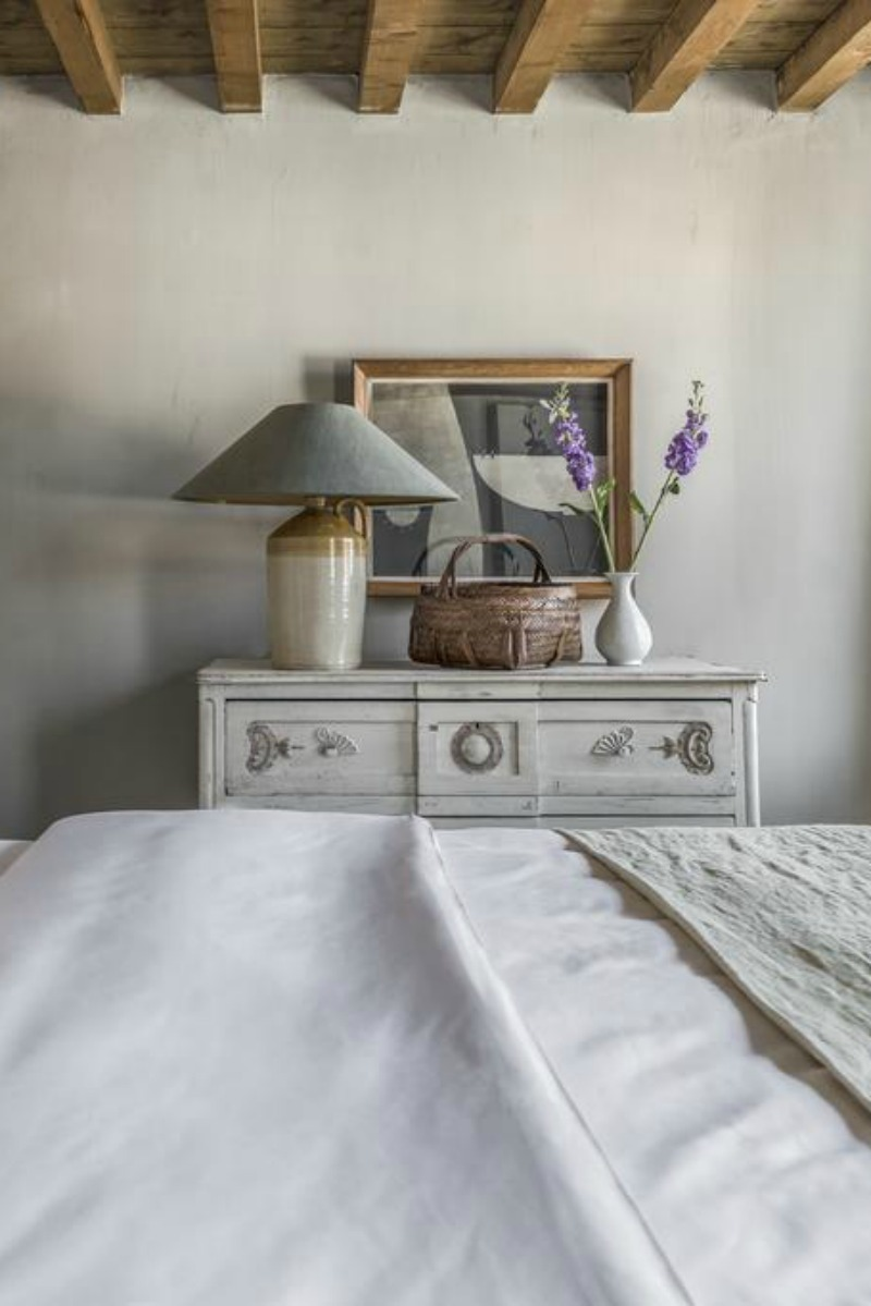 Beautiful Belgian style interior design in a bedroom - found on Hello Lovely Studio