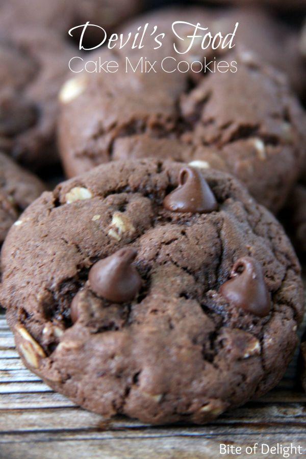 Devil's Food Cake Mix Cookies