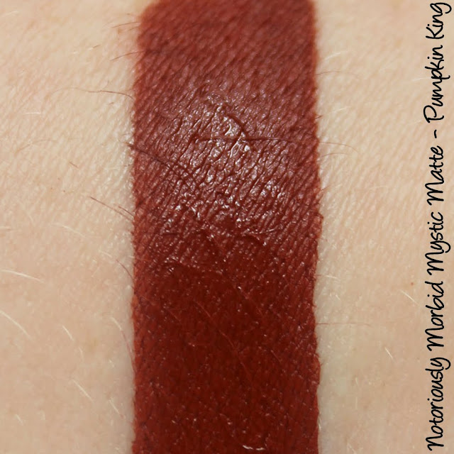 Notoriously Morbid Mystic Matte - Pumpkin King Lipstick Swatches & Review
