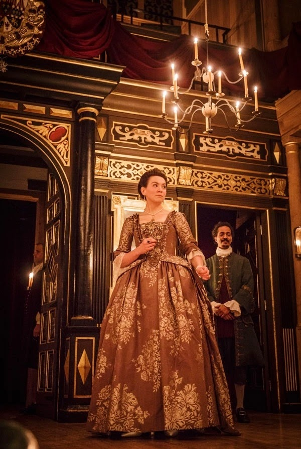 Melody Grove, Huss Garbiya - Farinelli and the King - Sam Wanamaker Playhouse - photo Marc Brenner