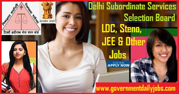 DSSSB Jobs Recruitment 2019 Welfare Officer, Steno, LDC, JEE 204 Posts