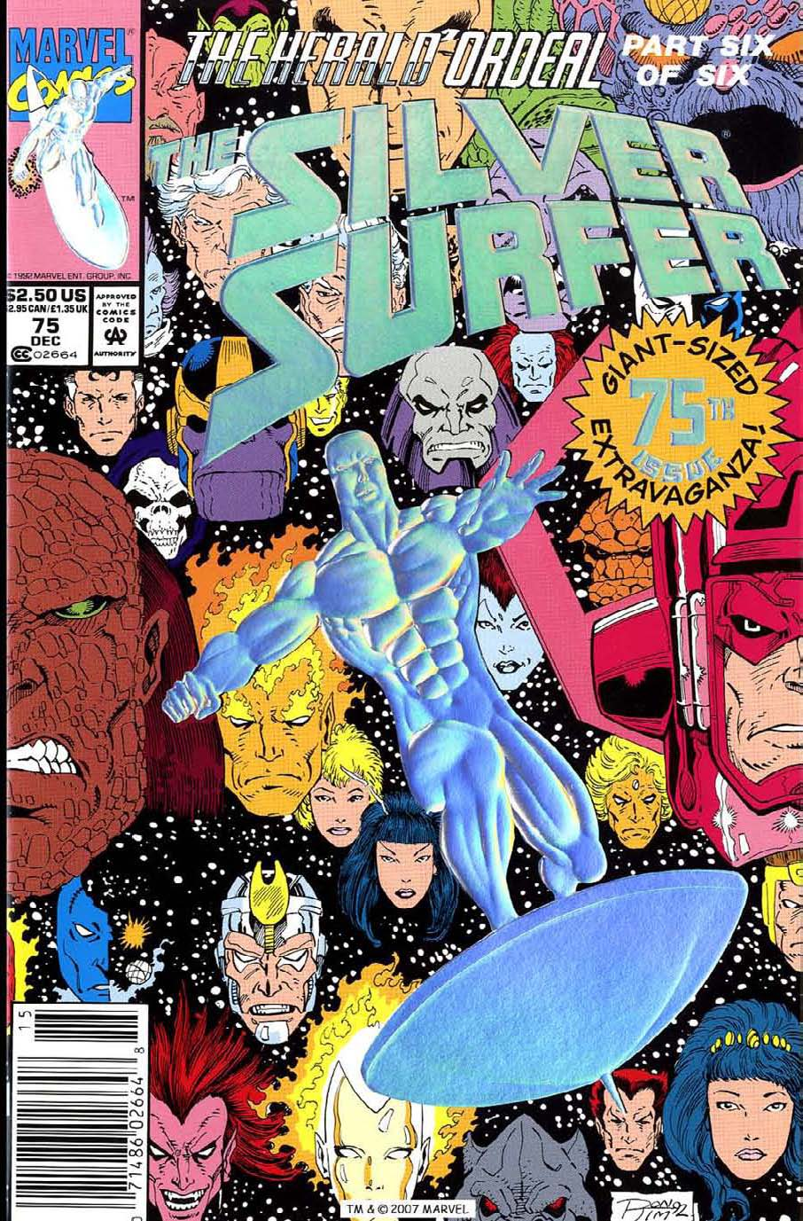 Read online Silver Surfer (1987) comic -  Issue #75 - 1