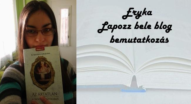 Eryka - Lapozz bele blog bemutatkozás