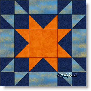Amish Star quilt block image © Wendy Russell