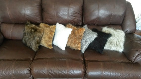 Not Just Another Southern Gal Plush Faux Fur Throw Pillow