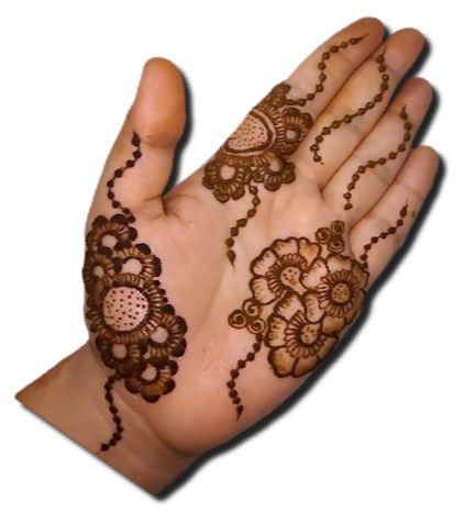 Simple Mehndi Designs for Front Hand