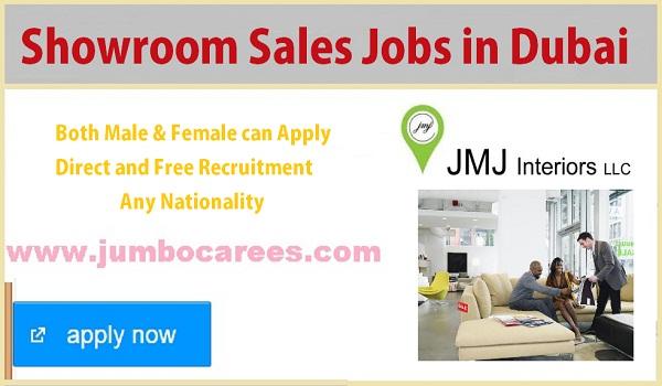 Available sales job vacancies in Dubai, UAE Showroom sales jobs with salary,