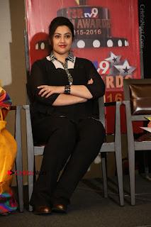 Tamil Actress Meena Latest Stills in Black Dress at TSR TV9 Awards Press Meet  0186.JPG