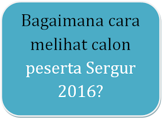 cek peserta sergur plpg dan ppgj 2016