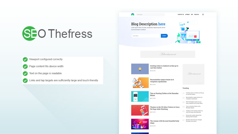 SEO TheFress Responsive Blogger Template