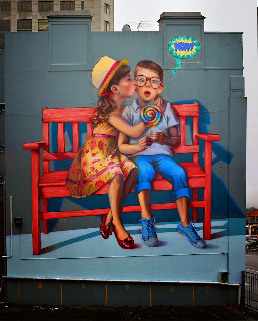 Natalia Rak is currently in New Zealand where she was invited to work on a big building somewhere on the streets of Dunedin.