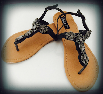 Primark Summer 2015, Shoe Haul, Primark, Sandals for summer, Bejewelled sandals