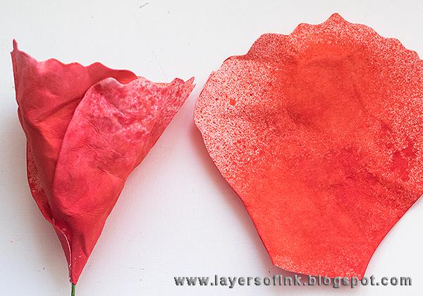 Layers of ink - Handmade Poppy Tutorial by Anna-Karin