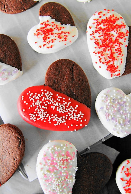Valentine Chocolate Sugar Cookies Photo