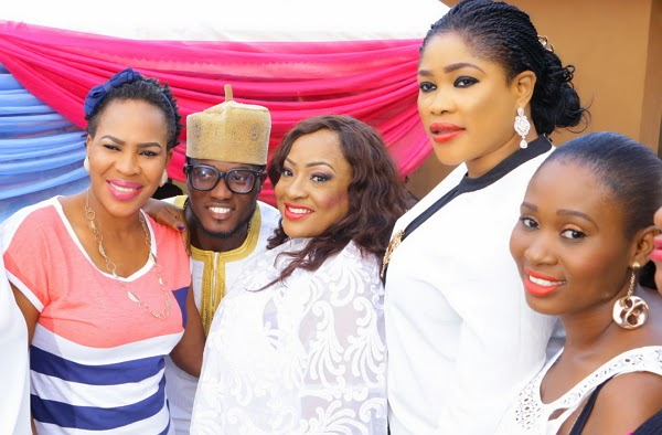 foluke daramola wedding party