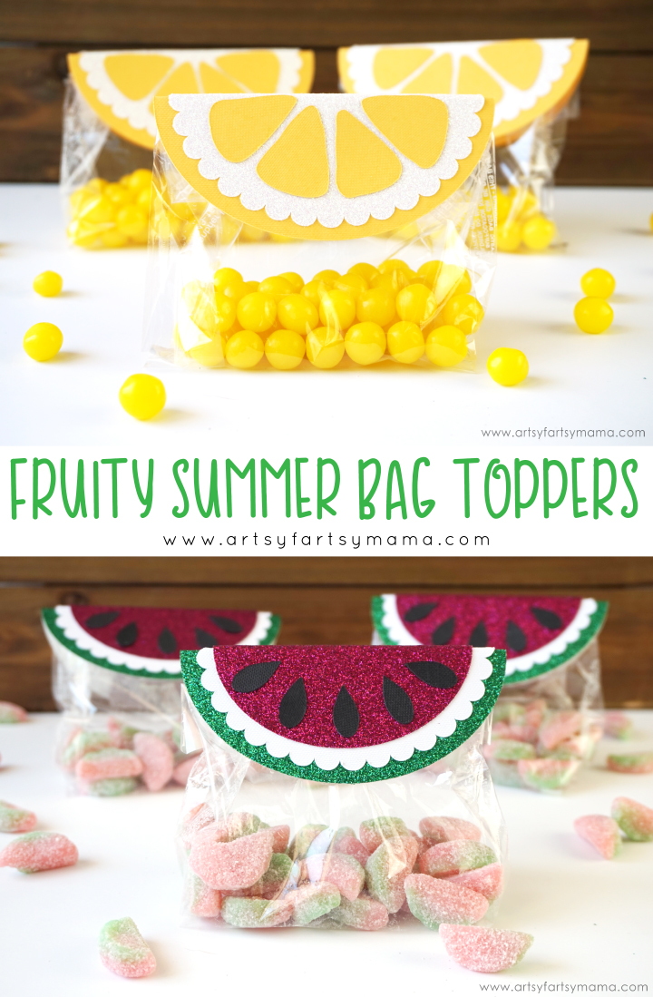 Fruity Summer Bag Toppers are an easy Make It Now project in Cricut Design Space! #CricutMade