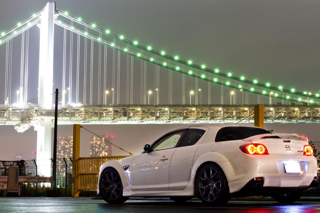Mazda RX-8, wankel, rotary, japońskie samochody, fotki, tuning, zdjęcia, w nocy
